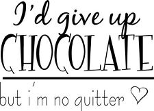 Chocolate Vinyl Lettering Wall Saying kitchen word art