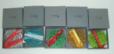 LALIQUE Mistletoe Christmas Crystal Ornament 1988 ~ 1992 Set of 5 Mint in Box