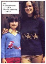 Child's & Woman's DK Christmas Santa & Three Wise Men Sweaters Knitting Pattern