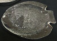 "Arcoroc Set Of 4 Fish Shaped Plates Seafood Servers 10.25"" By 8"" Made in France"