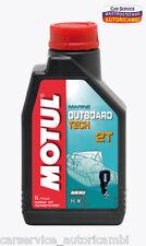 OLIO MOTORE MOTUL OUTBOARD TECH 2T 1 LT LUBRIFICANTE FUORIBORDO NAUTICO API TDC4