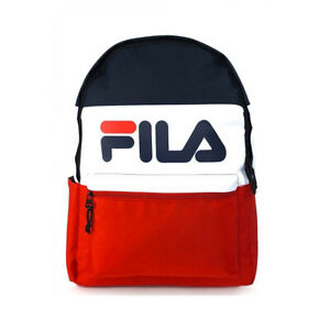 FILA ARDAM BACK PACK WITH WATER BOTTLE POCKET PEACOAT / WHITE / RED // BNWT //