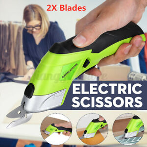 Rechargeable Electric Scissors Tailors Cutter Cordless Cutting Shears Leather