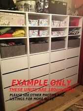 New Wardrobe  Built in Cabinet Storage Organiser Insert 4 DR and Shelves H180cm