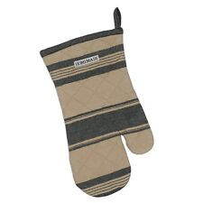 Design Imports FRENCH BLACK STRIPE Quilted Cotton Oven Mitt