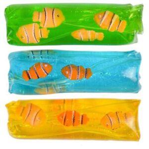 "4.5"" Clownfish Water Wiggler Slippery Toy Shake Wiggle Float Slip Fun Gift Fish"