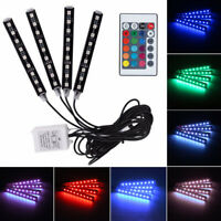 4X LED RGB Fußraumbeleuchtung Innenraumbeleuchtung Auto Ambientebeleuchtung App