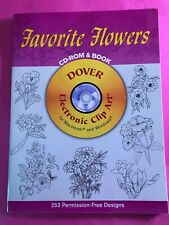 Dover Electronic Clip Art: Favorite Flowers by Dover Publications Inc. Staff...