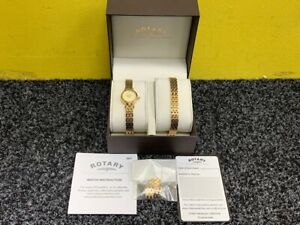 Rotary LB00175/BR/03 Ladies Watch and Bracelet Set