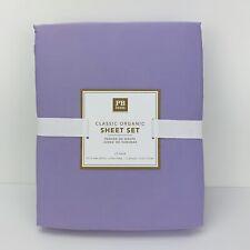 Pottery Barn Teen Classic Organic Sheet Set Lavender Twin XL