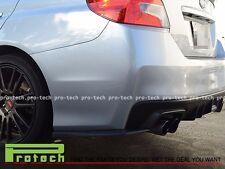 Fit For 2015-2016 Subaru WRX STI Rear Bumper Spat Lip Carbon Fiber HT-Style