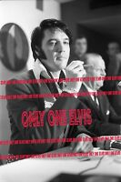 1970 ELVIS PRESLEY in HOUSTON 8x10 Photo ASTRODOME PRESS CONFERENCE UNSEEN