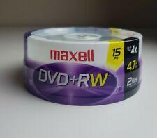 Maxell 4x DVD+RW Media - 4.7GB - 2 HRS - 15 Pack