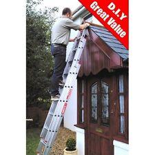 2.7 - 6.7m Triple Extension Three Section Domestic Aluminium Ladder