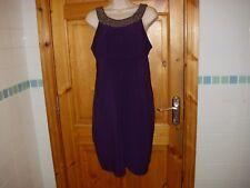 Womens SCARLETT NITE purple evening bodycon dress size 14UK excellent condition