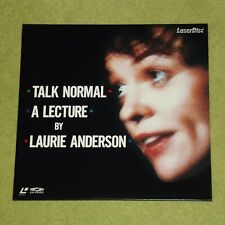 LAURIE ANDERSON Talk Normal: A Lecture By [1987] - RARE 1990 JAPAN LASERDISC LD