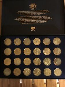 1984 GAMES OF THE XXIIIrd OLYMPIAD LOS ANGELES Transit Fare Tokens COIN SET