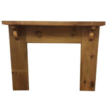 Solid Pine Fire Surround with Wide Mantel - Stained - Light/Medium/Dark