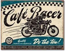 Cafe Racer Metal Tin Sign Motorcycle Garage Bar Shop Man Cave Wall Decor New