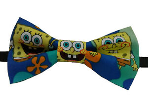 Spongebob Square Pants Bow Tie Adult  Adjustable to 18 Inches