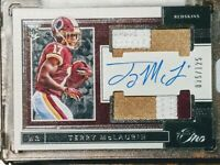 2019 Panini One Terry McLaurin Rookie 3-color Patch Auto /125