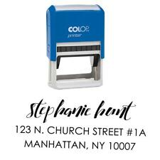 Return Address Stamp Self Ink Custom Name Rubber Stamper Engagement-PAR-S-194