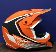 Fly Racing Kenetic Fullspeed Helmet Orange/Blk/White XX-large