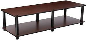 """Furinno Just No Tools Wide TV Stand in Dark Cherry/BLK W41.3""""xH10.9""""xD15.6"""" -New"""