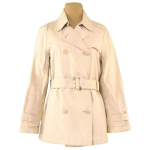 BURBERRY coat half trench beige cotton cotton Auth Used D2221