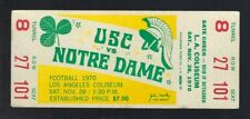 VINTAGE 1970 NCAA NOTRE DAME FIGHTING IRISH @ USC TROJANS FOOTBALL FULL TICKET