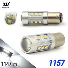 2X 1200 Lumens 1157 50W High Power Chip LED White Turn Signal Brake Light Bulbs