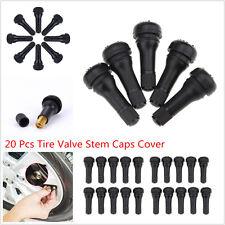 20pcs Car Van Wheel Snap-In Rubber Tubeless Tire Tyre Valve Stem Dust Caps Cover