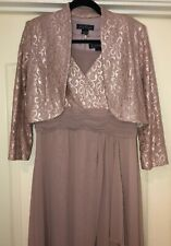 JESSICA HOWARD LACE COCTAIL WEDDING DRESS & BOLLERO SIZE 10