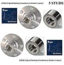 Front Wheel Hub & (OEM) KOYO Bearing Kit Fit 2004-2008 TOYOTA SOLARA (2.4L) PAIR