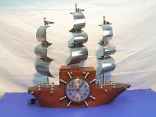 Vintage Electric MASTERCRAFTERS Model 740 Mantel YANKEE CLIPPER Ship Clock