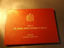 More details for malta proof set of coins in a plastic case 8 coins. the i cent looks a little fo