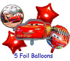 Cars Lightning McQueen Helium Quality Foil Balloons (5pcs) Party Decoration