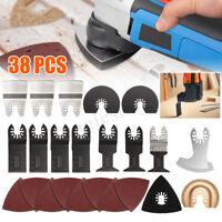 38pcs Mix Oscillating Multitool Saw Blades Accessories Set For FEIN BOSCH Makita
