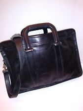 COACH Mens Briefcase - Messenger Bag - Black Leather
