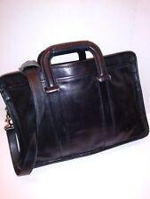 COACH Mens Briefcase - Messenger Bag - Black Leather