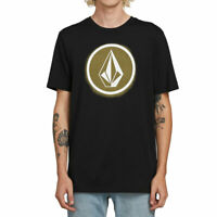 Volcom Men's Spray Stone Short Sleeve T Shirt Black Clothing Apparel Tees