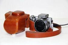 Camera Leather Case Bag for Sony NEX5T NEX-5T NEX5R NEX-5R(16-50) Brown