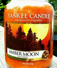 "Yankee Candle Retired ""AMBER MOON""~ Large 22 oz ~ European ~ WHITE LABEL ~ RARE"