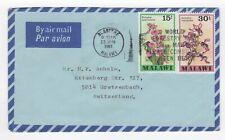 1981 MALAWI Air Mail Cover BLANTYRE to GRETZENBACH SWITZERLAND Flowers SLOGAN