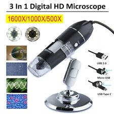 1600x Zoom 3in1 Hd 1080p Usb Microscope Digital Magnifier Endoscope Video Camera