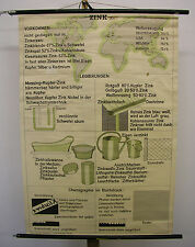 Wall Map Mural Zinc Plumber Plumbers 80x116 Zinc Vintage Wall Chart ~ 1960