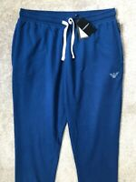 EMPORIO ARMANI BLUE LOGO JOGGERS PANTS SWEATPANTS 111690 - M & XL - NEW TAGS