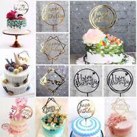 Accueil Amour Joyeux Anniversaire Gâteau Topper Carte Acrylique Party Decor DIY