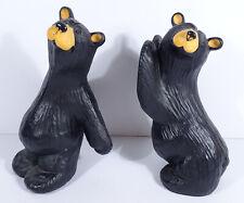 Vintage Bearfoots Simon & Schuster Bookends Set Big Sky Carvers 2000 Bears