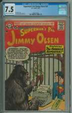 SUPERMAN'S PAL JIMMY OLSEN #24 CGC 7.5 CR/OW PAGES